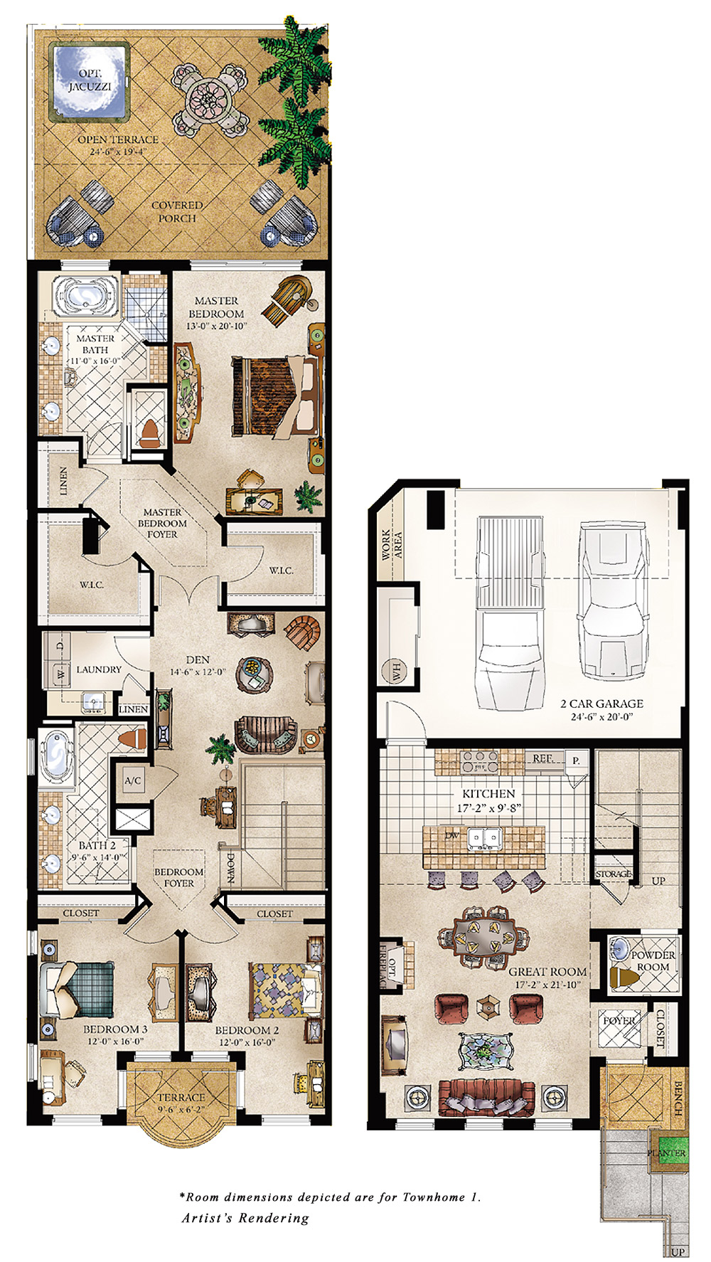 Costa verano condominiums and townhomes in jacksonville Luxury townhouse floor plans