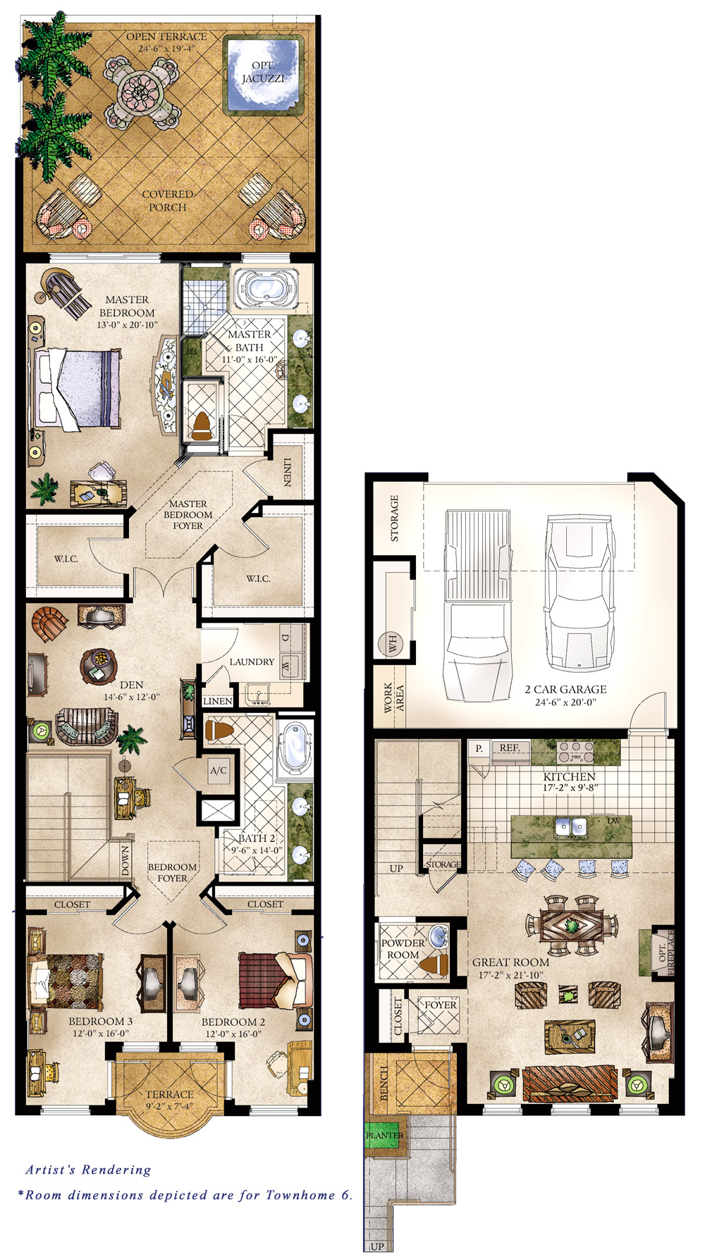 Costa verano condominiums and townhomes in jacksonville for 5 bedroom townhouse floor plans