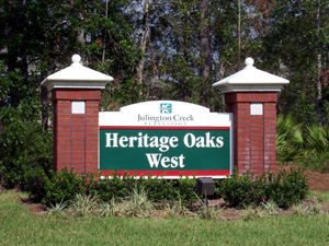 Heritage Oaks in Julington Creek Plantation