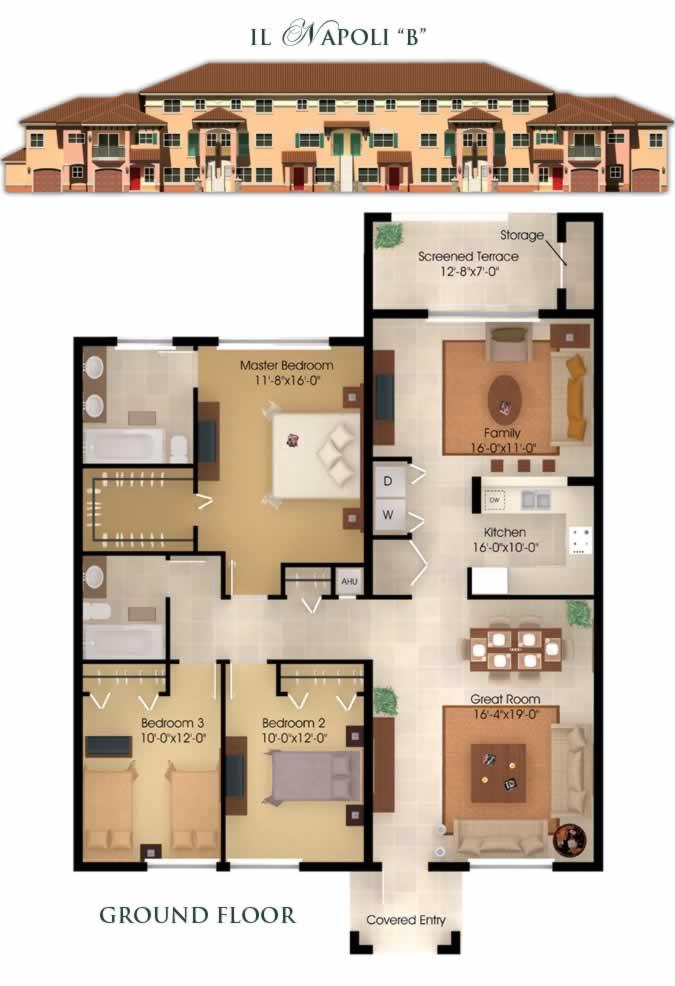 3 bedroom condo floor plans 2