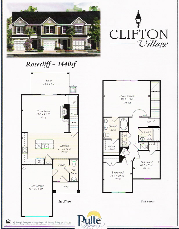 Clifton Village townhomes in Jacksonville, Florida.
