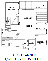Surfside Floor Plan 3