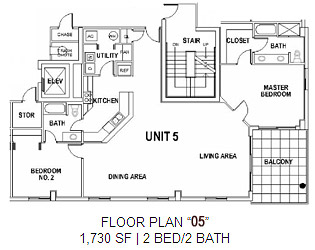 Surfside Floor Plan 5